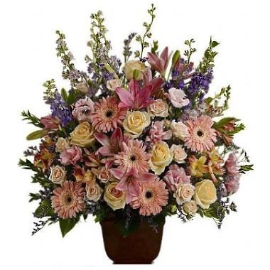 Sympathy mix flowers Arrangement