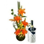Lilies and wine