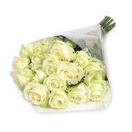 Two dozen white roses bouquet