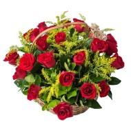 28 roses Basket
