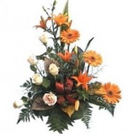 Arrangement of exotic flowers