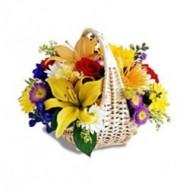 Arrangement of assorted flowers
