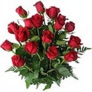 Arrangement of 18 roses