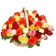 Baket of 50 mix Roses