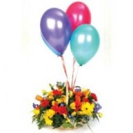 Spring arrangement with balloons