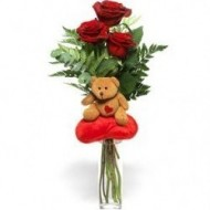 3 roses and little bear