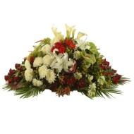 Flower garden casket spray