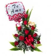 10 roses arrangement